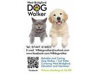 Dog Walker/Cat Sitter: West Bridgford-Edwalton-Gamston