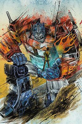 Transformers Movie Art Print Optimus Prime Poster