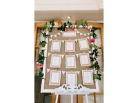 A1 frame for wedding seating plan