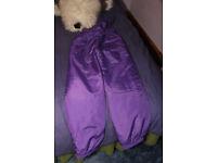 Rodeo purple salopettes, size 158/164