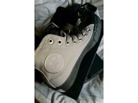 NEW Converse canvas boots. 2 pairs, boxed. One black, one grey. Size 4.5. £30 each or both for £55