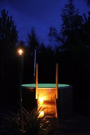 Wooden Wood Fired Linned Hot tub