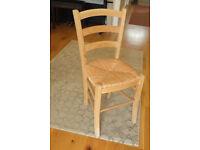 Pair of Rush Seat Chairs