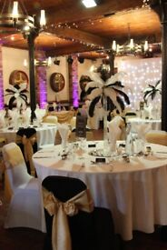 35 Black Lycra Chair Covers