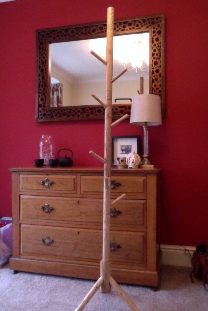 Coat Stand Wooden 9 Hooks