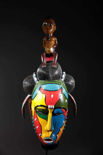 Art Contemporary African Mask Painted 92