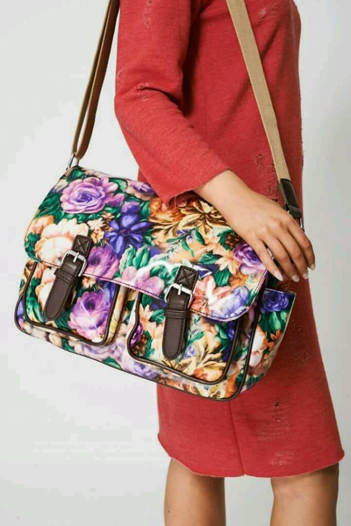 Satchel Bag In Floral print