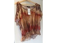Jane Norman blurred gypsy top size 14 - new with tag.