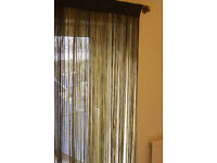 Beautiful pair of string curtains, ideal for room separation or decoration