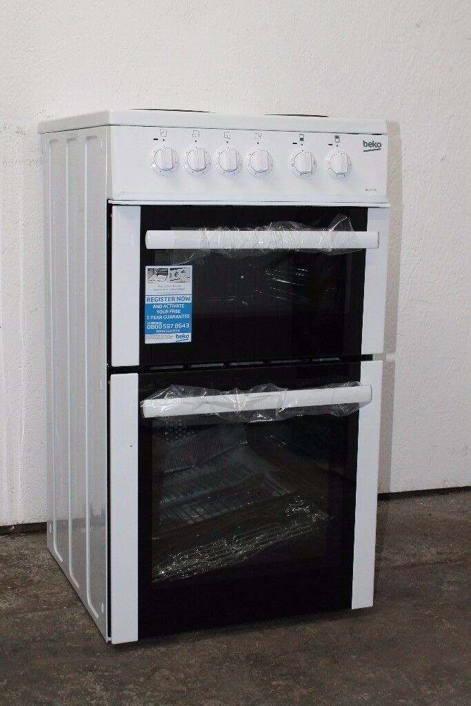 Beko BD533AW 50cm Hotplate Cooker/Oven New Unit 12 Month Warranty Delivery and Install Available