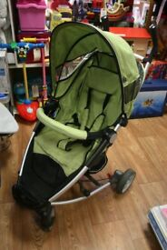 Petite Star Zia pushchair, footmuff & raincover
