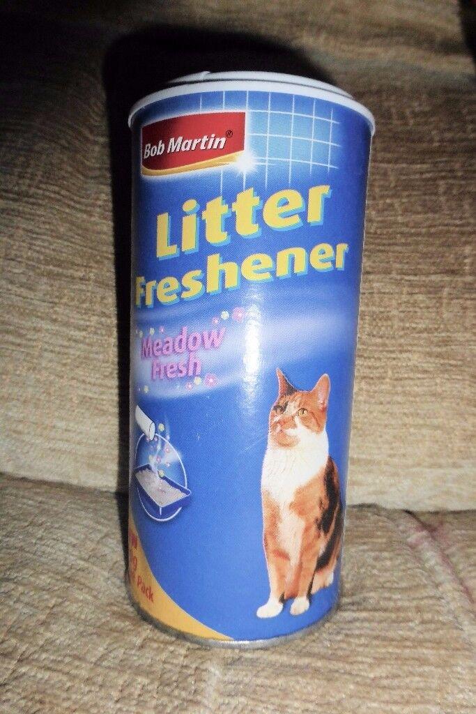 NEW Bob Martin Meadow Fresh Litter Freshener, (Or Bin Freshener), 500g, Histon