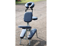 portable massage chair foldable with bag on rolls for easy transport