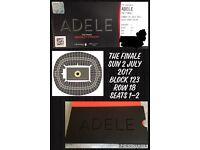 Adele Finale Tickets 2/7/2017