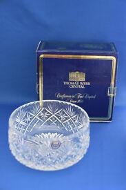 "Thomas Webb Buckingham Cut Crystal Glass 7"" Salad Bowl"