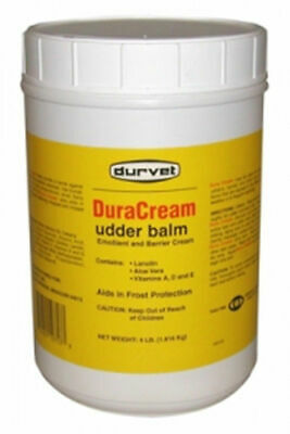 Duracream Udder Balm 4 Lbs Dairy Soreness Chapping Cattle Cows Teats Non-greasy