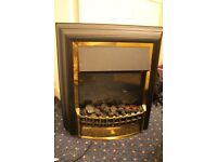 Electric fire place with charcoals