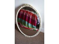 Vintage mirror rose tinted