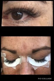 Professional eyelash extensions special offer full set £25.00 for new clients!!