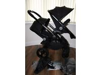 iCandy Peach 3 all black (Jet) single / double pram *can post*