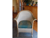 Lloyd Loom style bedroom chair with sprung seat