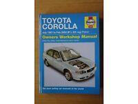 Toyota Corolla Haynes Manual 1997 - 2002