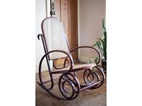 1920's Thonet Style Bentwood Rocking Chair with rattan/cane seat and back (CAN DELIVER)