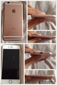 iPhone 6s 16gb rose gold ee in mint condition with box charger
