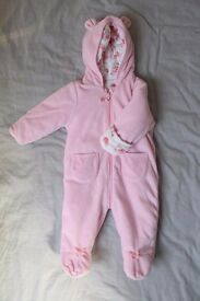 Baby Girl Snowsuit, 3-6 months