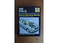 Haynes Workshop Manual for VW Polo, 2002 to May 2005 (51 to 05 reg) Petrol & Diesel Car