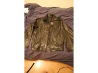New with tags Large L Leather Moda Paola Jacket Zip Up Coat Black Zara H&M Urban Outfitters Topman