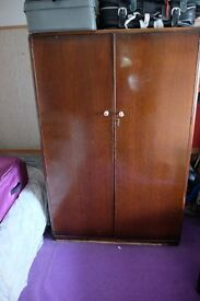 LARGE WARDRODE+SMALL WARDROBE POSSIBLY 1950s? RM9 AREA PERFECT UPCYCLING PROJECT