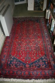 Gorgeous Antique hand knotted wool Persian rug or carpet 225cm x127cm Price reduced for quick sale