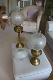 Two Vintage Oil Lamps, original working condition.