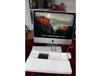 """iMac 24"""" with apple keyboard and mouse"""
