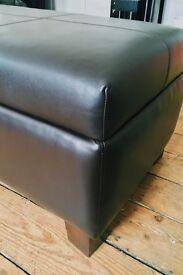 Leather Ottoman/Blanket Box/Seat.