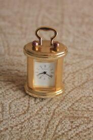 Miniature Wellington Brass Clock
