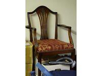 Regency style mahogany chairs