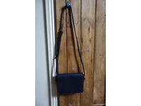 BODEN (as new) small cross-body bag, soft navy blue leather