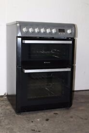 Hotpoint Silver 60cm Ceramic Top Cooker/Oven Digital Display 12 Month Warranty