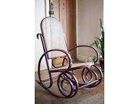 Vintage 1920's Thonet Style Bentwood Rocking Chair with rattan/cane seat and back (CAN DELIVER)