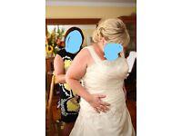 plus size wedding dress,size 16/18/20
