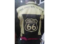 Original Route 66 Bikers Leather Jacket