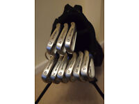 Full set of Skymax Ice ix-1 golf irons and Skymax stand bag