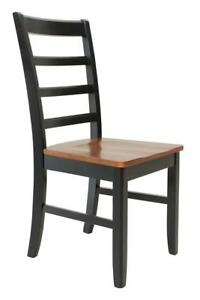 Six Sturdy Dining Chair In Black And Saddle Brown