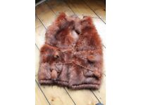 Fur waist coat- ideal festival wear