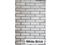 Brick slips wall tiles cladding- White Brick