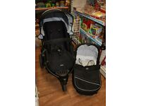 Britax B-Smart 3 Pushchair with carrycot & raincovers