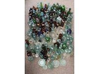 Over 200 Vintage Glass Bottles as shown Huge Lot
