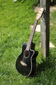 Crafter acoustic guitar | 3/4 length | Black